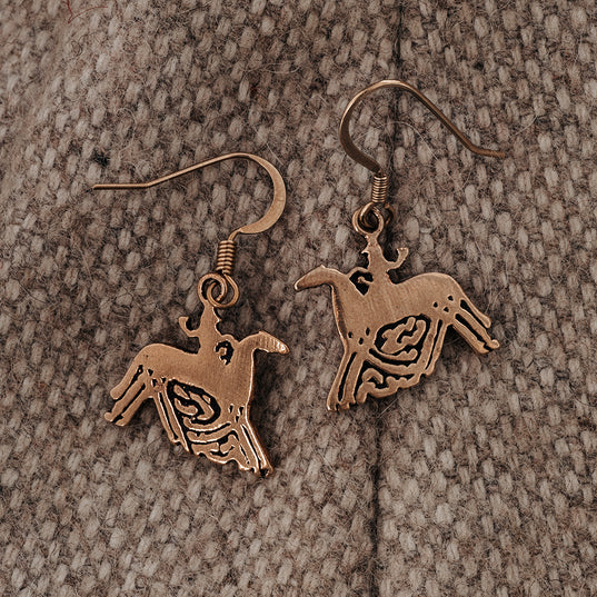 Earrings - Sleipnir Earrings, Bronze - Grimfrost.com