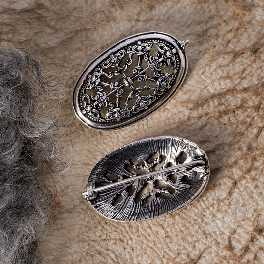 Brooches - Borre Brooches, Silver - Grimfrost.com
