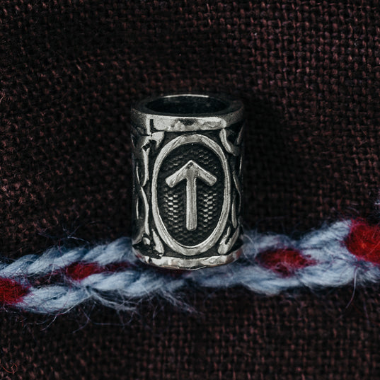 Beard Rings - Tyr Beard Ring, Silver - Grimfrost.com