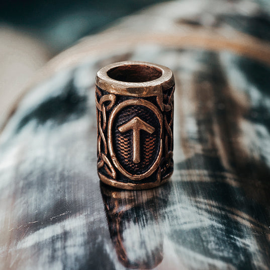 Beard Rings - Tyr Beard Ring, Bronze - Grimfrost.com