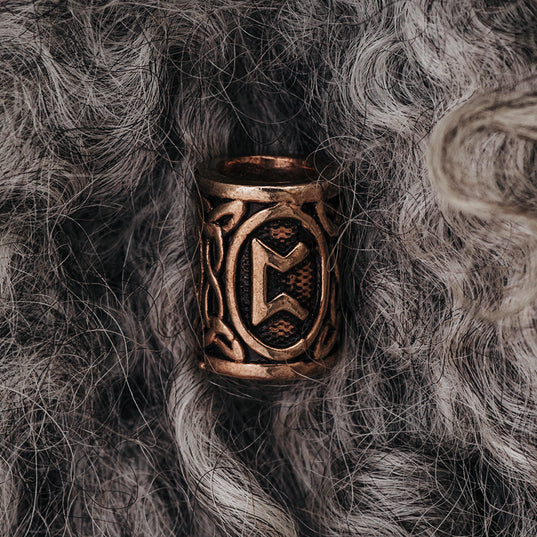 Beard Rings - Pertho Beard Ring, Bronze - Grimfrost.com