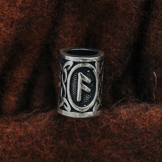 Beard Rings - Anzus Beard Ring, Silver - Grimfrost.com