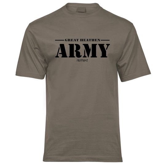 T-shirts - Premium Tee, Great Army, Army Tan - Grimfrost.com