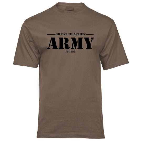 Premium Tee, Great Army, Coyote Brown