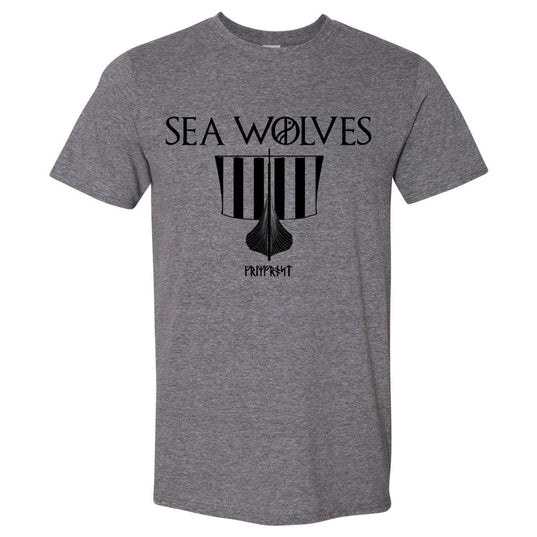 T-shirts - T-shirt, Sea Wolves, Dark Heather - Grimfrost.com