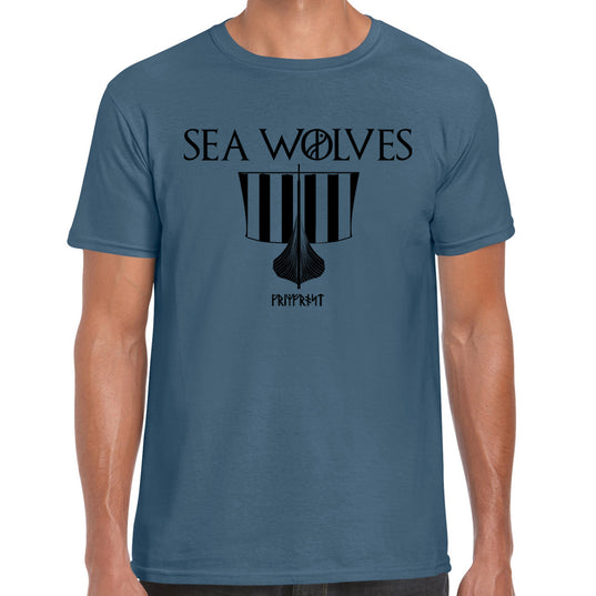 T-shirt, Sea Wolves, Indigo Blue