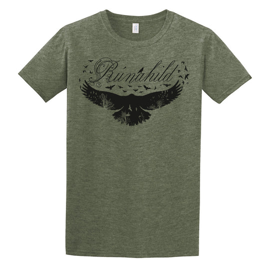 T-shirts - T-shirt, Rúnahild, Heather Military Green - Grimfrost.com