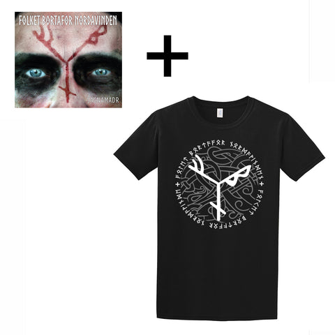 Sets & Bundles - FBN T-shirt and CD, Black - Grimfrost.com
