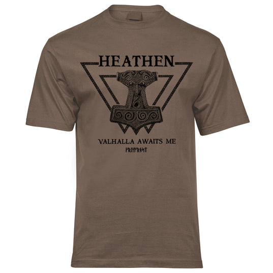 Premium Tee, Heathen, Coyote Brown