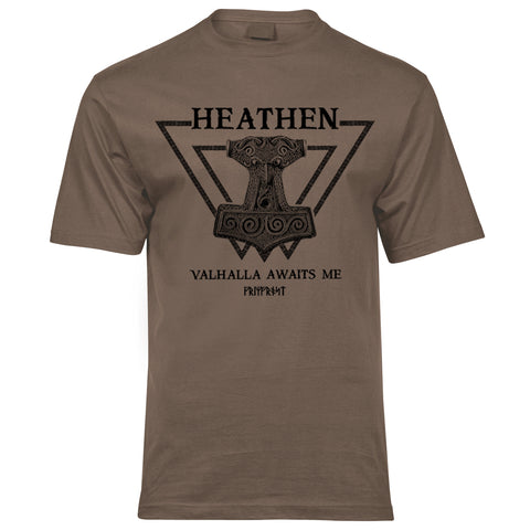 T-shirts - Premium Tee, Heathen, Coyote Brown - Grimfrost.com