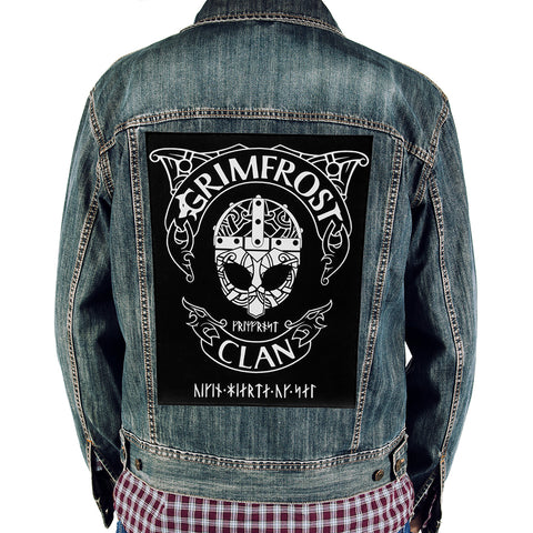 Patches - Grimfrost Clan Back Patch - Grimfrost.com