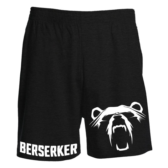 Shorts - Knee Length Shorts, Berserker, Black - Grimfrost.com