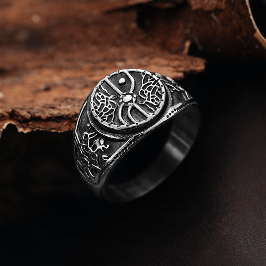 Rings - Grimfrost Shield Wall Ring, Stainless Steel - Grimfrost.com