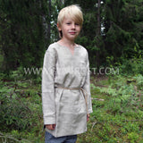 Kids Linen Tunic, Natural