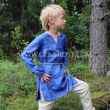 Kids Linen Tunic, Blue