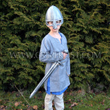 Kids Viking Wear - Kids Linen Tunic, Blue - Grimfrost.com