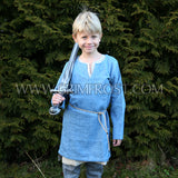 Kids Viking Wear - Kids Linen Tunic, Natural - Grimfrost.com