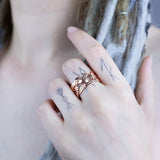 Freyja's Weave Ring, Rose Gold
