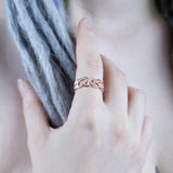 Frigg's Weave Ring, Rose Gold