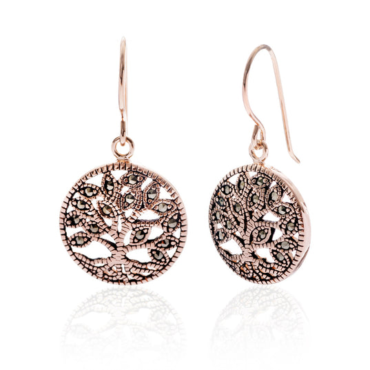 - Life Earrings, Rose Gold - Grimfrost.com
