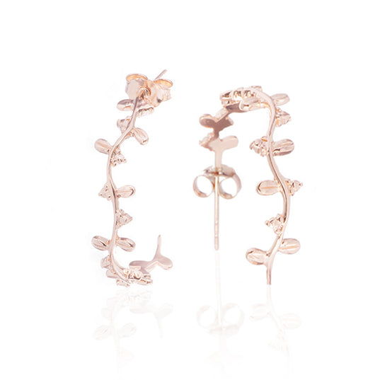 - Bjarkan Earrings, Rose Gold - Grimfrost.com