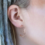 Bjarkan Earrings, Rose Gold