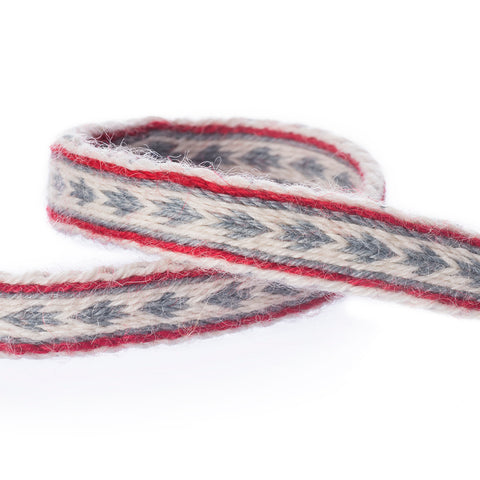 Tablet Woven Band, White