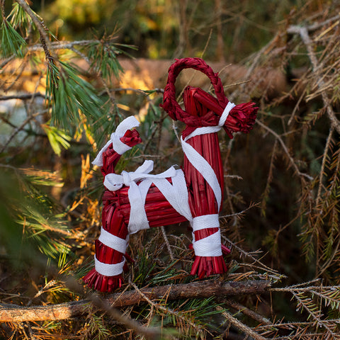 Yule Goat, Small, Red