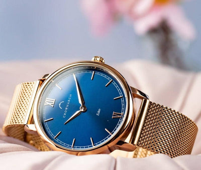 Eden Azure - Women's Rose Gold and Blue Watch
