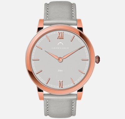 Eden Grey - Women's Rose Gold and Grey Watch