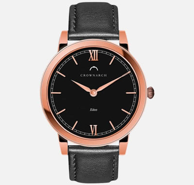 Eden Noir - Women's Rose Gold & Black Watch
