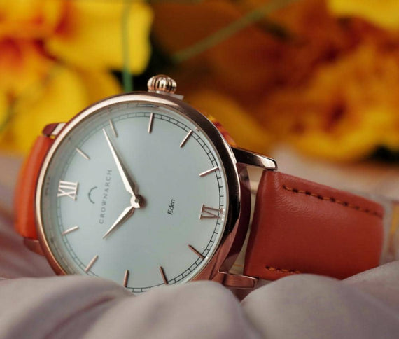 Eden Mandarin - Women's Rose Gold and Tan watch