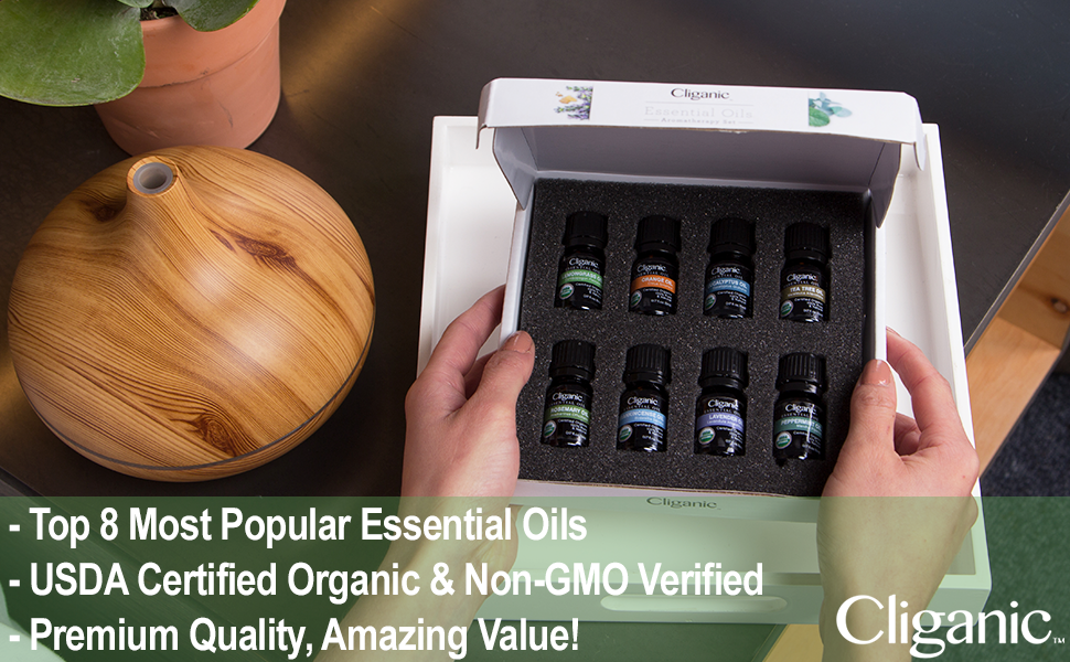 Cliganic Essential Oils Set