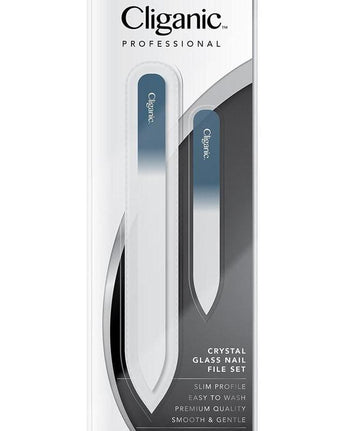 Cliganic™ Glass Nail File Set: Large & Travel