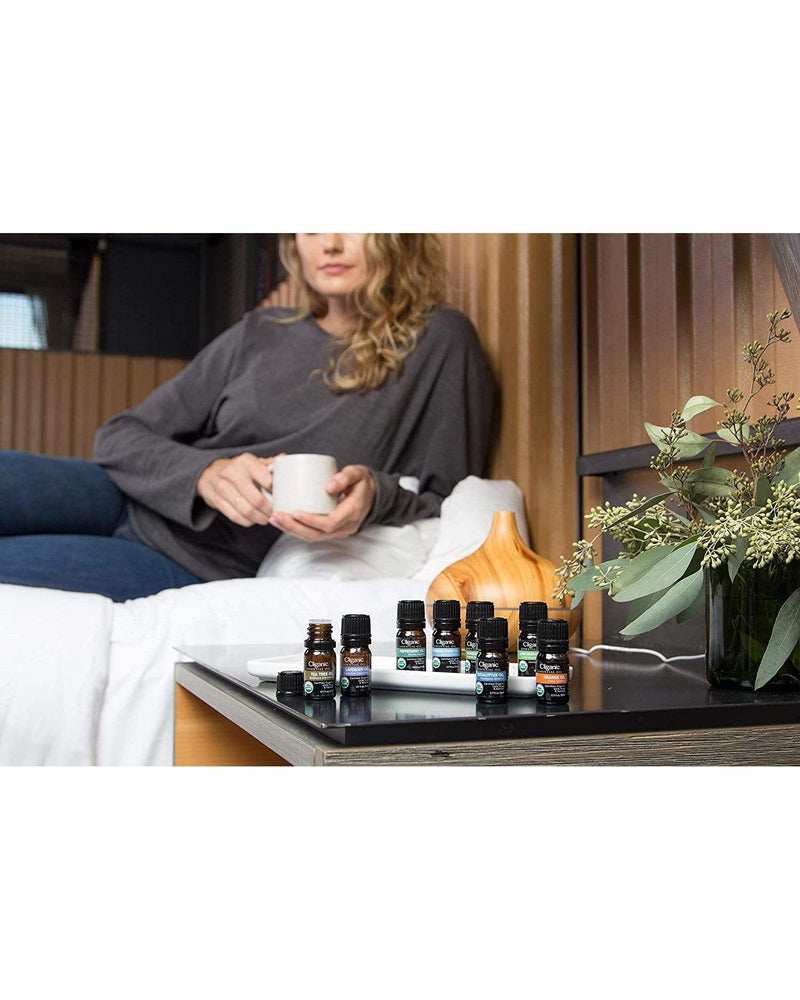 Cliganic Organic Aromatherapy Set (Top 5 Essential Oils)