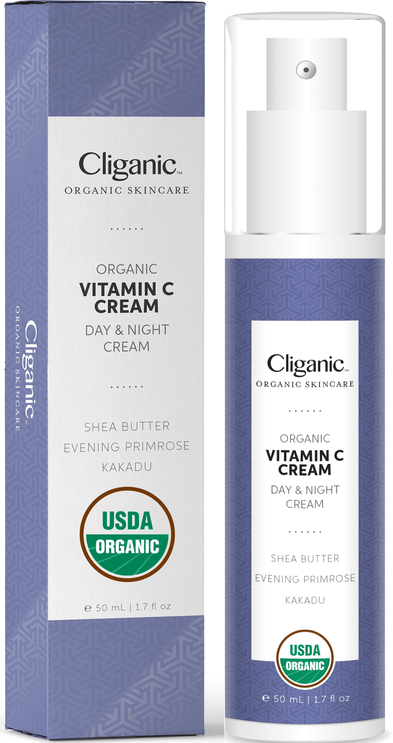 Cliganic Cliganic Organic Vitamin C Cream, 1.7oz - Day & Night