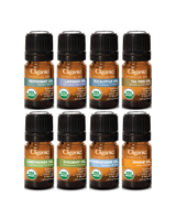Cliganic Organic Aromatherapy Set (Top 8 Essential Oils) 5ml