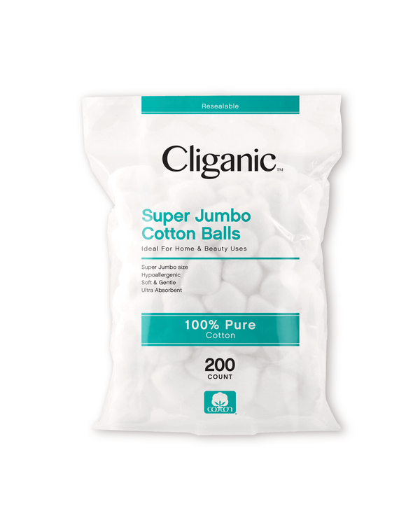 Cliganic Super Jumbo Cotton Balls, 200 Count