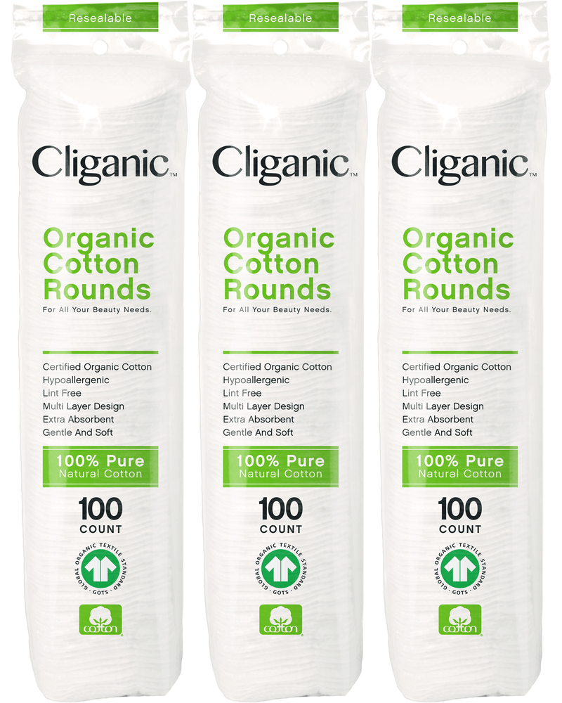 Cliganic Organic Cotton Rounds, 300 Count