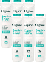 Cliganic Premium Cotton Rounds, 540 Count