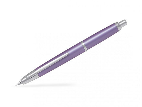 Pilot Capless Decimo Vanishing Point Retractable Fountain Pen Violet Lilac/Rhodium Trims