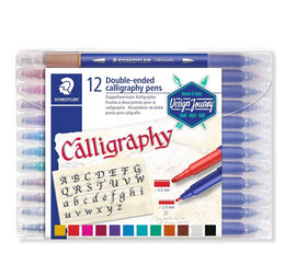 Staedtler Double-Ended Calligraphy Pen Pack of 12