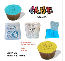 Acrylic Block Cake stamps