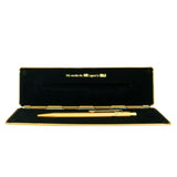 Caran D'Ache Gold Bar Metal Ballpoint Pen 849 All Gold Pen + All Gold Gift Box
