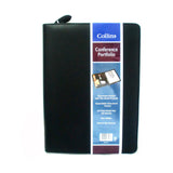 Collins Conference Portfolio in Black 7015 Zip Round + Pad