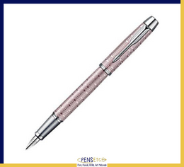 Parker IM Fountain Pen in Pink Pearl with Chrome Detail Medium Nib