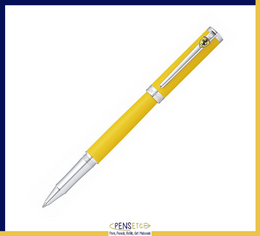 Sheaffer Ferrari Intensity Satin Yellow Ballpoint Pen with Chrome Trims