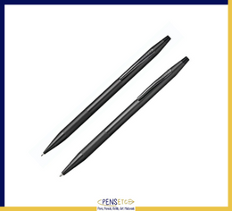 Cross Classic Century Black Pen and Pencil Set with Micro-knurl Detail