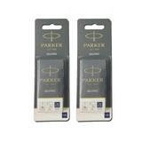 Parker Quink Fountain Pen Ink Cartridges x10 Available in 3 Colours