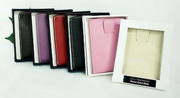 Grandluxe Card Holder in Faux Leather Available in 6 Colours for Business or Credit Cards